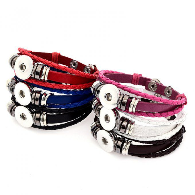 "Bracelet interchangeable cordon simili cuir réglable ""classic"""